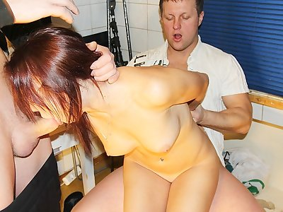 Uber-cute lady gets 2 chisels in MMF porn act