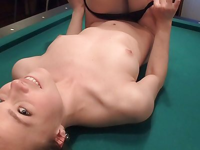 Incredible platinum-blonde chick gets her honeypot banged foolish
